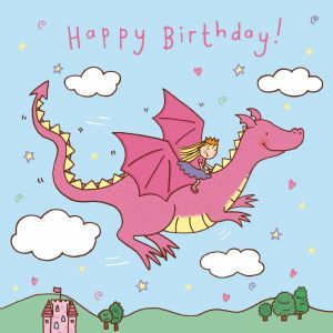 Flying Dragon Happy Birthday